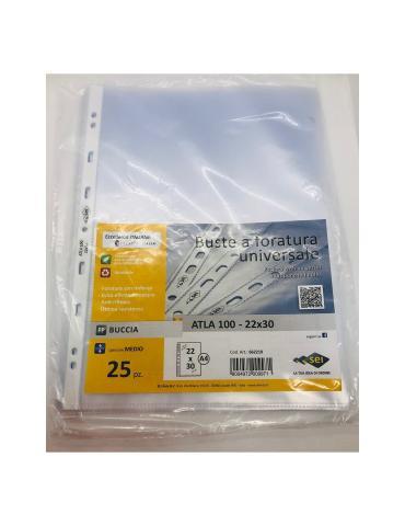 Buste in plastica trasparente PP BUCCIA 22x30 - SEI ROTA - 25PZ - 662210