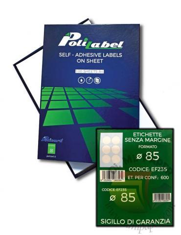 Etichette adesive in foglio A4 - POLICART - 85DM - EF235